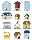 3d Building Icon Set Stock Photography