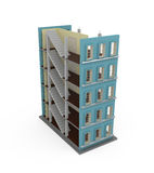 3d building on white. 3d illustration Royalty Free Stock Photo
