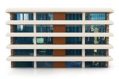 3d building on white. 3d building generic rendered  on white  background Royalty Free Stock Photos