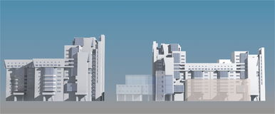 3D buildings Royalty Free Stock Image