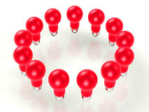 3d bulbs light Στοκ φωτογραφίες με δικαίωμα ελεύθερης χρήσης