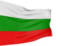 3D Bulgarian flag Stock Images