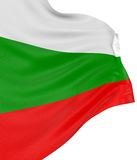 3D Bulgarian flag. With fabric surface texture. White background Stock Photos