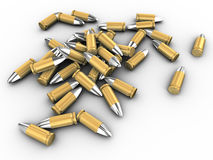 3d bullets Stock Image