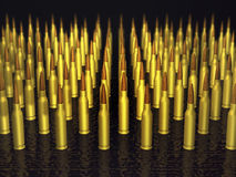3d bullets. 3d rows of military bullets Stock Photos