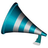3d bullhorn. Icon against white background, abstract vector art illustration Royalty Free Stock Image