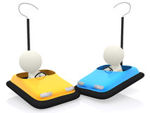 3D bumper carts Stock Photos