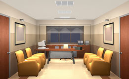 3D bureau royalty-vrije illustratie