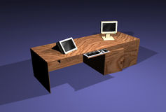 3D bureau stock illustratie