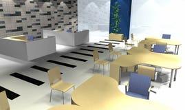 3D bureaubinnenland Stock Afbeelding