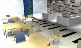 3D bureaubinnenland Stock Afbeeldingen