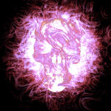 3D Burning Skull. 3D rendered scary Burning Skull Royalty Free Stock Photos