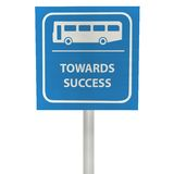3D bus stop sign Stock Photo