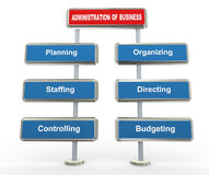 3d business administration Stock Image