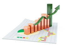 3d business chart. 3d image isolated on white Stock Images