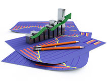 3d business chart Royalty Free Stock Image