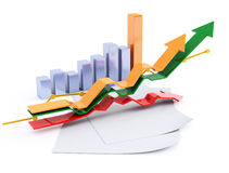 3d business chart Stock Image