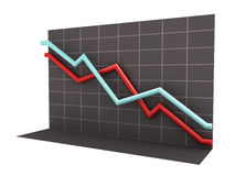 3D Business Chart with Clipping Path Stock Images