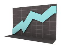 3D Business Chart with Clipping Path Royalty Free Stock Photos
