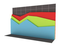 3D Business Chart with Clipping Path Royalty Free Stock Photo