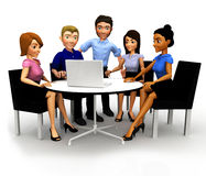 3D Business conference Royalty Free Stock Photo