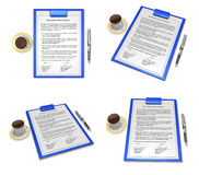 3d business contract document Stock Photography