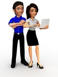 3D Business couple Stock Photo