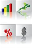 3d business elements Royalty Free Stock Photography