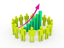 3d Business Graph Royalty Free Stock Photos