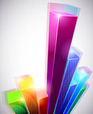 3D Business graph. Colorful 3D business graph on a white background royalty free illustration