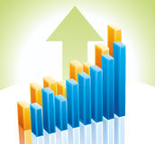 3d business graph. Vector 3d business graph. 8 eps Royalty Free Stock Image