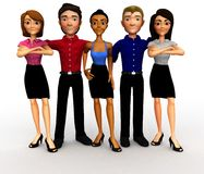 3D business group Royalty Free Stock Images
