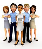 3D business group Stock Images