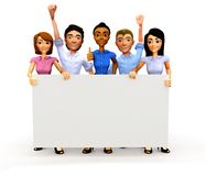 3D Business group with banner Royalty Free Stock Image