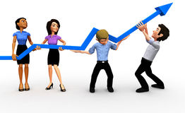 3D business growth Royalty Free Stock Photography