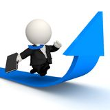 3D Business growth race Royalty Free Stock Photo