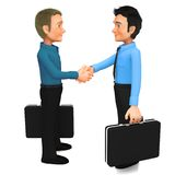 3D Business handshake Royalty Free Stock Photos