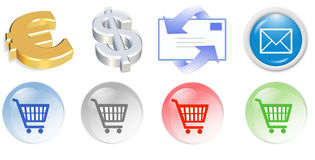 3d business  icon. Set - web design illustration Stock Photo