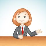 3d Business Lady in Vector Royalty Free Stock Images