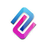 3d business logo. In blue and pink Stock Photo