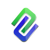 3d business logo. In blue and green Stock Photography