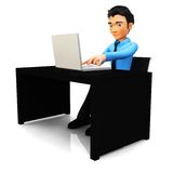 3D business man Stock Photography