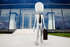 3d business man. 3d man business work concept Royalty Free Stock Photo