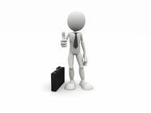 3d business man. 3d cartoon style business man Stock Images