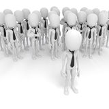 3d business man leader. 3d business man leading a crowd Stock Images