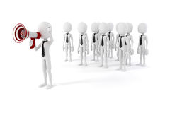 3d business man leader. 3d business man leading a crowd Royalty Free Stock Images