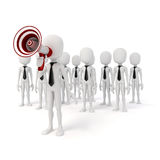 3d business man leader. 3d business man leading a crowd Royalty Free Stock Photography