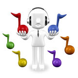 3d business man listening Royalty Free Stock Photo