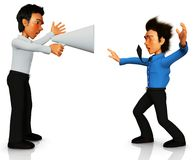 3D business man screaming Stock Images