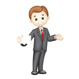 3d Business man in Vector. Illustration of 3d business man in vector showing blank display card Royalty Free Stock Photography